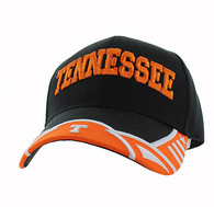 VM421 Tennessee State Velcro Cap (Black & Orange)