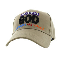 VM301 With God Velcro Cap (Solid Khaki)