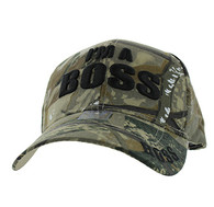 VM192 I am a Boss Velcro Cap (Solid Hunting Camo)