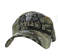 VM512 Outlaw Skull Guns Velcro Cap (Solid Hunting Camo)