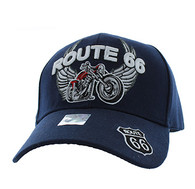 VM603 Route 66 Bike Velcro Cap (Solid Navy)