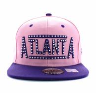 SM331 Atlanta City Snapback (Light Pink & Purple)