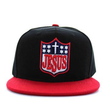 SM594 Jesus Snapback Cap (Black   Red) - Ace Cap 65ca0cf1d5d3