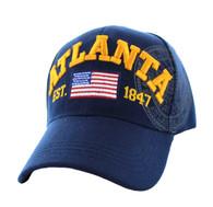 VM990 Atlanta City Velcro Cap (Solid Navy)
