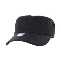 VP085  Washed Cotton Castro Caps (Black)