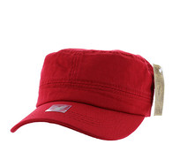 VP085 Washed Cotton Castro Caps (Red)