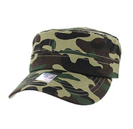 VP085 Washed Cotton Castro Caps (Military Camo)