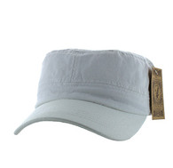 VP085 Washed Cotton Castro Caps (White)