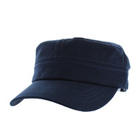 VP085 Washed Cotton Castro Caps (Navy)
