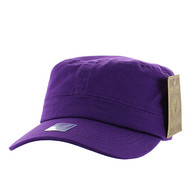 VP085 Washed Cotton Castro Caps (Purple)