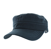 VP085 Washed Cotton Castro Caps (Dark Grey)