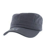 VP085 Washed Cotton Castro Caps (Light Grey)