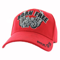 VM482 Born Free Velcro Cap (Solid Red)
