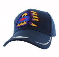 VM264 Native Pride Bear Claw Velcro Cap (Solid Navy)