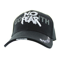 VM024 God With No Fear Velcro Cap (Solid Black)