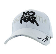 VM024 God With No Fear Velcro Cap (Solid White)