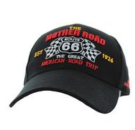 VM169 Route 66 Flag Velcro Cap (Solid Black)