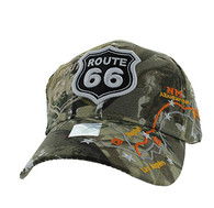 VM169 Route 66 Map Velcro Cap (Solid Hunting Camo)