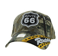 VM296 Route 66 Road Velcro Cap (Solid Hunting Camo)