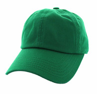 BP080 Washed Cotton Polo Style Caps (Solid Kelly Green)