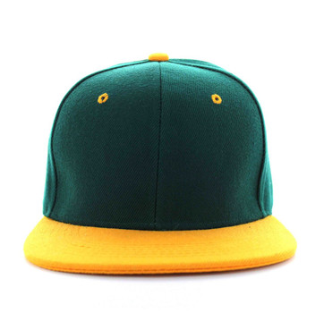 28eab621e0753 SP018 Two Tone Snapback Cap (Dark Green   Gold) - Ace Cap