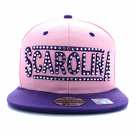 SM331 South Carolina State Snapback (Light Pink & Purple)