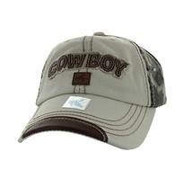 BM537 Cowboy Buckle Cap (Beige & Hunting Camo)