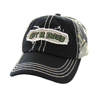 VM503 Git R Done Buckle Cap (Black & Hunting Camo)