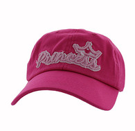 BM619 Princess Cotton Buckle Cap (Solid Hot Pink)