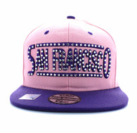 SM331 San Francisco City Snapback (Light Pink & Purple)