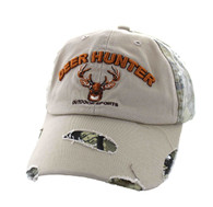 VM620 Deer Hunter Cotton Buckle Cap (Khaki & Hunting Camo)