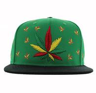 SM562 Marijuana Cotton Snapback (Kelly Green & Black)