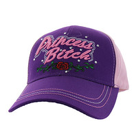 VM209 Princess Bitch Cotton Velcro Cap (Purple & Light Pink)