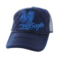 SM615 Eagle Trucker Mesh Cap (Solid Navy)