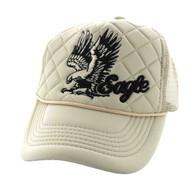 SM615 Eagle Trucker Mesh Cap (Solid Khaki)