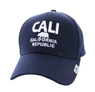 VM514 Cali Cotton Velcro Cap (Solid Navy)