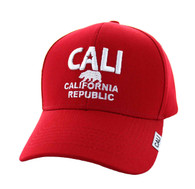VM514 Cali Cotton Velcro Cap (Solid Red)