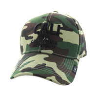 VM514 Cali Cotton Velcro Cap (Solid Military Camo)