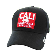 VM514 Cali Cotton Velcro Cap (Black & Red)