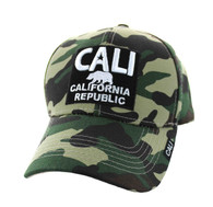 VM514 Cali Cotton Velcro Cap (Military Camo & Black)