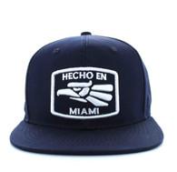 SM617 Miami City Snapback Cap (Solid Navy)