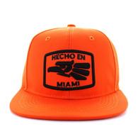 SM617 Miami City Snapback Cap (Solid Orange)