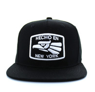 SM617 New York City Snapback (Solid Black)