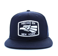 SM617 New York City Snapback (Solid Navy)