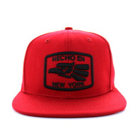 SM617 New York City Snapback (Solid Red)