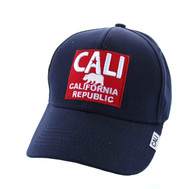 VM514 Cali Cotton Velcro Cap (Navy & Red)
