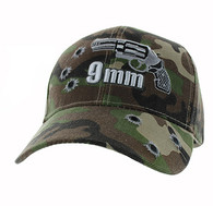 VM269 Gun 9 mm Velcro Cap (Solid Military Camo)