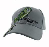 VM441 Fishing Velcro Cap (Light Grey)