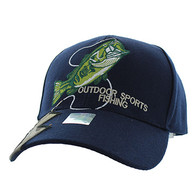 VM441 Fishing Velcro Cap (Navy)