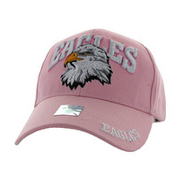 VM535 Eagle Velcro Cap (Solid Light Pink)